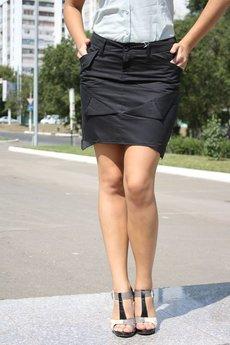 Черная юбка из хлопка FORMALAB