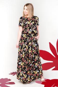 Платье из штапеля с цветочным принтом Шарлиз